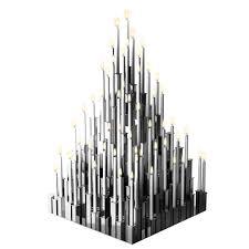 Modern Deco Gigantic Candelabra Modern Deco Style Steel Candleholder Geometric