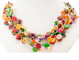 multi coloured necklace images A beautiful multi coloured sweet button necklace cherry amore png