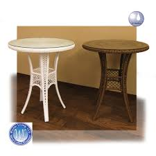 sanibel outdoor wicker pub table resin furniture