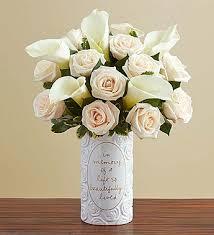Calla Lily Bouquets White Rose U0026 Calla Lily Bouquet Sympathy 1800flowers Com