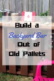 build a backyard bar out of old pallets smores and sundresses