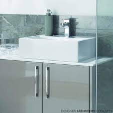 Cloakroom Basin And Vanity Unit Ultra Designer Wall Hung Bathroom Vanity Unit