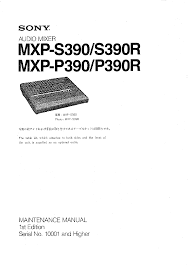 sony mxp s390 service manual immediate download