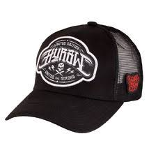 clothing anchor trucker hat black white nautical skull