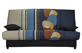 canape cliclac canapé clic clac bleu moderne à motifs galet mobilier de salon