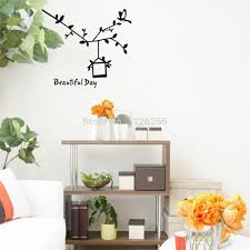 aliexpress com buy bird cage branch wall sticker quote beautiful