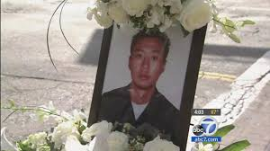 lapd officer nicholas choung lee honored at funeral service abc7 com