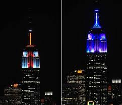 empire state building gets new lights ny daily news