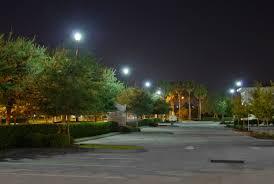 led parking lot lights vs metal halide parking lot lighting synergy lighting