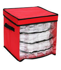 ornament storage box with clear front window joann