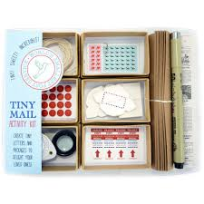 tiny mail stationery kit leafcutter designs