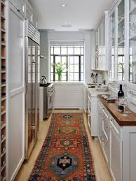 Paint Finish For Kitchen Cabinets Kitchen Room Awesome Narrow Kitchen Interior White Paint Finish