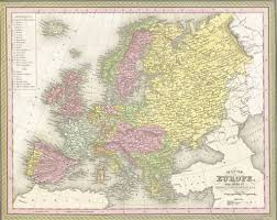 Ethnic Map Of Europe by Map Of Europe 1850 Mitchell And Cowperthwait U2013 Shaw Galleries