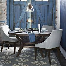dining room chairs from west elm love the blue door in the