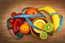 vegetables and fruits on a wooden table diet concept healthy