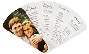 fan shaped wedding programs accucut craft pinnovation dies
