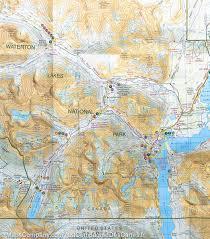 Banff National Park Map Hiking Map Of Waterton Lakes National Park Alberta Gem Trek