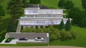 hillside home designs sims 3 modern hillside home by ramborocky on deviantart
