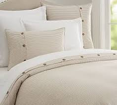 How To Make A Duvet Cover Stay Neutral Bedding Pottery Barn