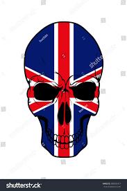 Scottish Flag Tattoo Patriotic Uk Flag Skull Tattoo Ornament Stock Vector 386692417