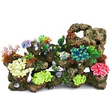 top fin faux coral aquarium ornament bubbler large xl