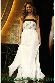 Wedding Dress Quotes Chiffon Handmade Beading Beyonce White Strapless Evening Wedding