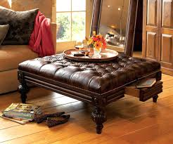 Square Leather Ottoman With Storage Coffee Table Small Ottoman Storage Square Leather