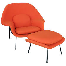 Ottoman Sale Saarinen For Knoll Womb Chair With Ottoman For Sale At 1stdibs