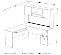 L Shaped Desk Dimensions Desk Return Dimensions Images