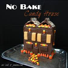 no bake candy house