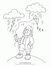 benjamin franklin coloring page free printable coloring pages