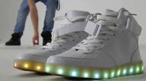 light up high tops nike led sneakers nike air force one high tops clone youtube