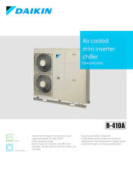 mitsubishi mini split dimensions air cooled mini inverter chiller ewaq acv3 w1 daikin europe