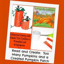 too many pumpkins book and pumpkin patch craft for kids wikki stix
