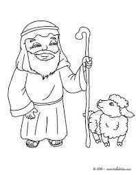 nativity shepherd character coloring pages hellokids