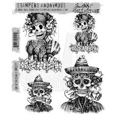 sters anonymous tim holtz rubber sts day of the dead 1 cms277