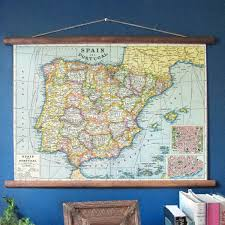 Iberian Peninsula Map Spain Portugal Vintage Map Iberian Peninsula Map Vintage Maps