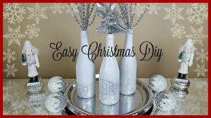 Glitter Home Decor Easy Christmas Diy Snowy Glam Bottles Home Decor Craft Youtube