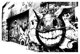 graffiti and street art coloring pages for adults justcolor