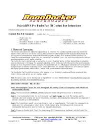 boondocker polaris 11 12 pro 800 turbo 3d tuning user manual 14