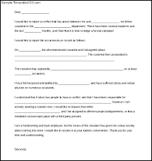 Formal Complaint Letter Against An Employee exle of complaint letter against coworker