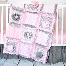 Pink And Gray Crib Bedding Ruffle Flower Baby Crib Bedding Baby Pink Gray A Vision