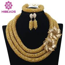aliexpress bead necklace images Buy 2017 hot nigerian beads necklace handmade jpg