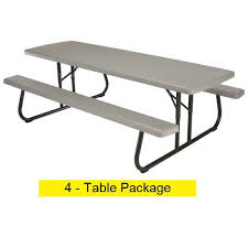 Lifetime Folding Picnic Table Lifetime Folding Picnic Tables 480123 Putty Color Commercial 8
