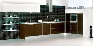 modern kitchen features fascinating parallel modern modular kitchen features black color