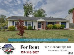 417 ticonderoga rd virginia beach va 23462 for rent by the hampton