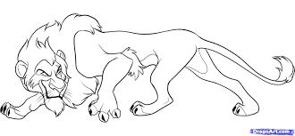 simba coloring pages scar lion king drawing 5a5e7e7fe8632e25eb4496c7d481b5ecjpg