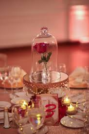 beauty and the beast wedding table decorations victoria and jason s beauty and the beast at home disney wedding