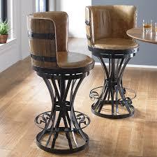 bar stools horse saddle bar stools black seat wooden with backs