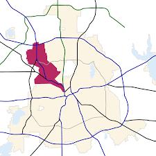 Dallas Dart Train Map by Northwest Dallas Wikipedia